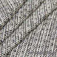 Пальтовая твид (н) черно-белая - итальянские ткани Тессутидея