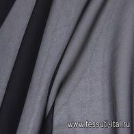 Шифон (о) черный - итальянские ткани Тессутидея