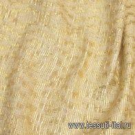 Жаккард ручной работы (н) бежево-золотой - итальянские ткани Тессутидея арт. 03-6612