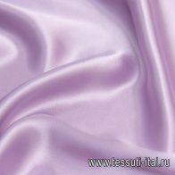 Шелк атлас стрейч (о) светло-сиреневый - итальянские ткани Тессутидея арт. 10-2039