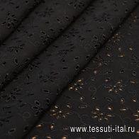Плательная (о) черное шитье - итальянские ткани Тессутидея