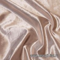 Бархат (о) серо-розовый в стиле Cerruti - итальянские ткани Тессутидея