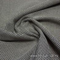 Трикотаж фактурный (н) бело-черный ш-130см - итальянские ткани Тессутидея арт. 13-1060