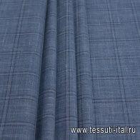 Костюмная (н) серо-синяя меланжевая клетка Loro Piana - итальянские ткани Тессутидея арт. 05-3927
