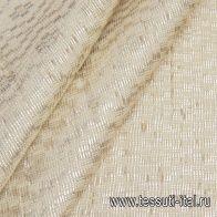 Жаккард ручной работы (н) бежево-серебрянный - итальянские ткани Тессутидея арт. 03-6611