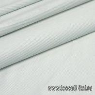 Вельвет стрейч (о) бело-голубой - итальянские ткани Тессутидея
