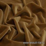 Бархат (о) кэмел в стиле Ferragamo - итальянские ткани Тессутидея