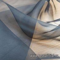 Органза (о) черная - итальянские ткани Тессутидея арт. 10-1837