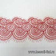 Кружево макраме (о) красное ш-9см - итальянские ткани Тессутидея