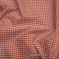 Сорочечная (н) сине-бело-оранжевая клетка - итальянские ткани Тессутидея