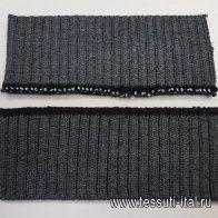 Подвяз манжета 18-20*7см серый - итальянские ткани Тессутидея