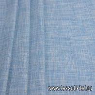 Костюмная (н) бело-серо-голубая меланжевая клетка Loro Piana - итальянские ткани Тессутидея арт. 05-3977