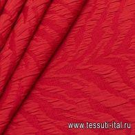 Жаккард матлассе (о) красный - итальянские ткани Тессутидея