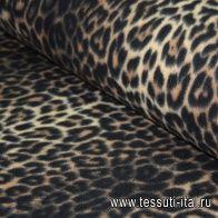 Флис double (н) леопардовый орнамент ш-180см - итальянские ткани Тессутидея