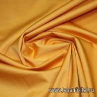 Сатин стрейч (о) оранжевый Etro - итальянские ткани Тессутидея