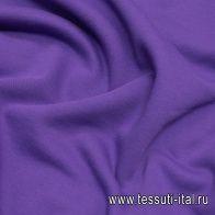 Футер хлопок (о) темно-сиреневый - итальянские ткани Тессутидея