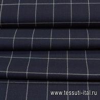 Костюмная (н) сине-белая клетка с красно-белой полосой - итальянские ткани Тессутидея арт. 05-4035