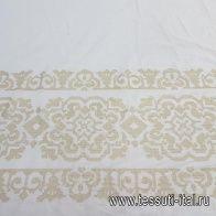Шитье (н) белое с бежевой вышивкой в стиле Scervino - итальянские ткани Тессутидея