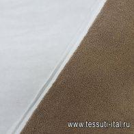Хлопок махровый костюмный дабл (о) белый/бежевый в стиле Burberry - итальянские ткани Тессутидея