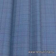 Костюмная (н) сине-розовая клетка - итальянские ткани Тессутидея