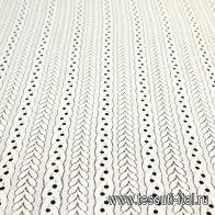 Кружевное полотно (о) слоновая кость - итальянские ткани Тессутидея арт. 03-6413