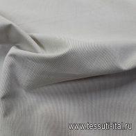 Хлопок костюмный (н) мелкая серо-бежевая полоска - итальянские ткани Тессутидея