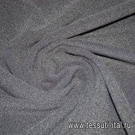 Трикотаж флис (о) черный - итальянские ткани Тессутидея
