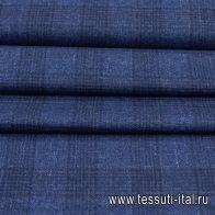 Костюмная твид (н) синяя клетка - итальянские ткани Тессутидея