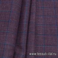 Костюмная (н) бордово-синяя клетка Loro Piana - итальянские ткани Тессутидея