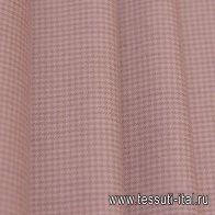 Костюмная (н) бежевая гусиная лапка на розово-бежевом - итальянские ткани Тессутидея