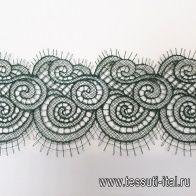 Кружево макраме (о) темно-зеленое ш-9см - итальянские ткани Тессутидея