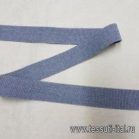 Резинка серая ш-2,5см - итальянские ткани Тессутидея