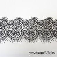 Кружево макраме (о) черное ш-9см - итальянские ткани Тессутидея