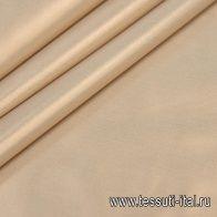Тафта (о) светло-бежевая с бронзовым напылением - итальянские ткани Тессутидея арт. 01-5674
