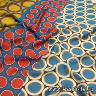 Шифон (н) цветные стилизованные круги - итальянские ткани Тессутидея