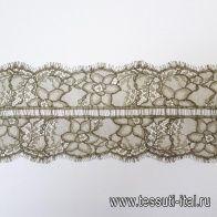Кружево (о) хаки ш-10,5см Solstiss - итальянские ткани Тессутидея