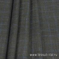 Костюмная (н) зелено-голубая клетка Loro Piana - итальянские ткани Тессутидея