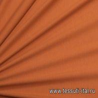 Трикотаж хлопок (о) коричнево-оранжевый - итальянские ткани Тессутидея