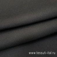 Пальтовая дабл (о) черная - итальянские ткани Тессутидея