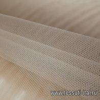 Плательная сетка (о) бежевая - итальянские ткани Тессутидея арт. 03-5493