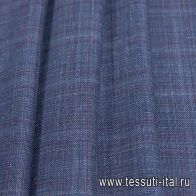 Костюмная (н) сине-фиолетово-зеленая меланжевая клетка Loro Piana - итальянские ткани Тессутидея