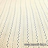 Кружевное полотно (о) светло-бежевое - итальянские ткани Тессутидея арт. 03-6414
