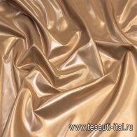 Тафта (о) коричневая с бронзовым напылением - итальянские ткани Тессутидея арт. 03-6300