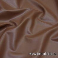 Искусственная кожа (о) коричневая - итальянские ткани Тессутидея