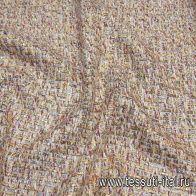 Шанель с люрексом (н) бело-бордовая с серебряно-золотым люрексом - итальянские ткани Тессутидея арт. 03-6626