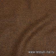 Пальтовая (н) черно-коричневая диагональ - итальянские ткани Тессутидея арт. 09-1888