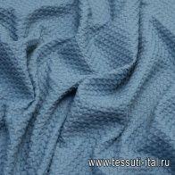 Жаккард стрейч (о) светло-сине-серый - итальянские ткани Тессутидея